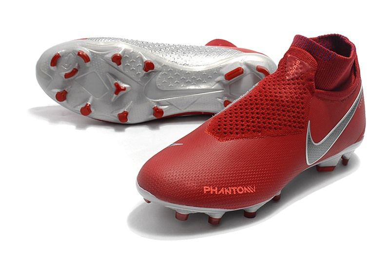 sports shoes c7a7d d4a17 Botas de Fútbol Nike Phantom Vision Elite DF FG - Rojo Plata
