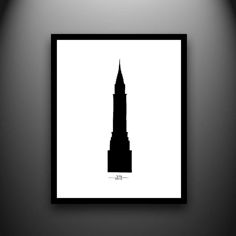 Nouveau la collection Chrysler Building New York Skyline Mono City Toile photo