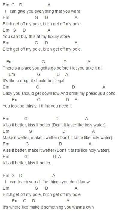 Post break up sex chords