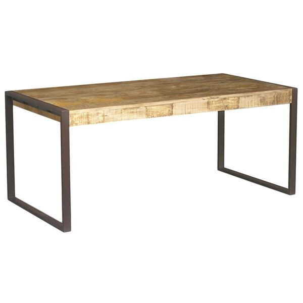 Handmade Timbergirl Reclaimed Wood and Metal Dining Table India