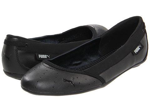 puma flats black