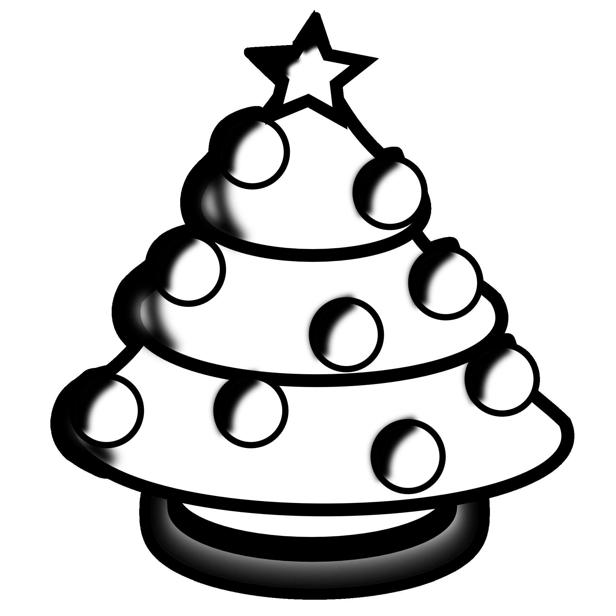 Christmas Tree Black And White Christmas Tree Outline Clipart Wikiclipart Christmas Clipart Clip Art White Christmas