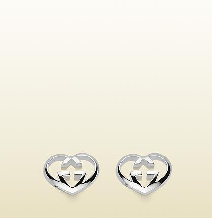 03f2fdf81 earrings with heart-shaped interlocking G motif. | Accessories ...