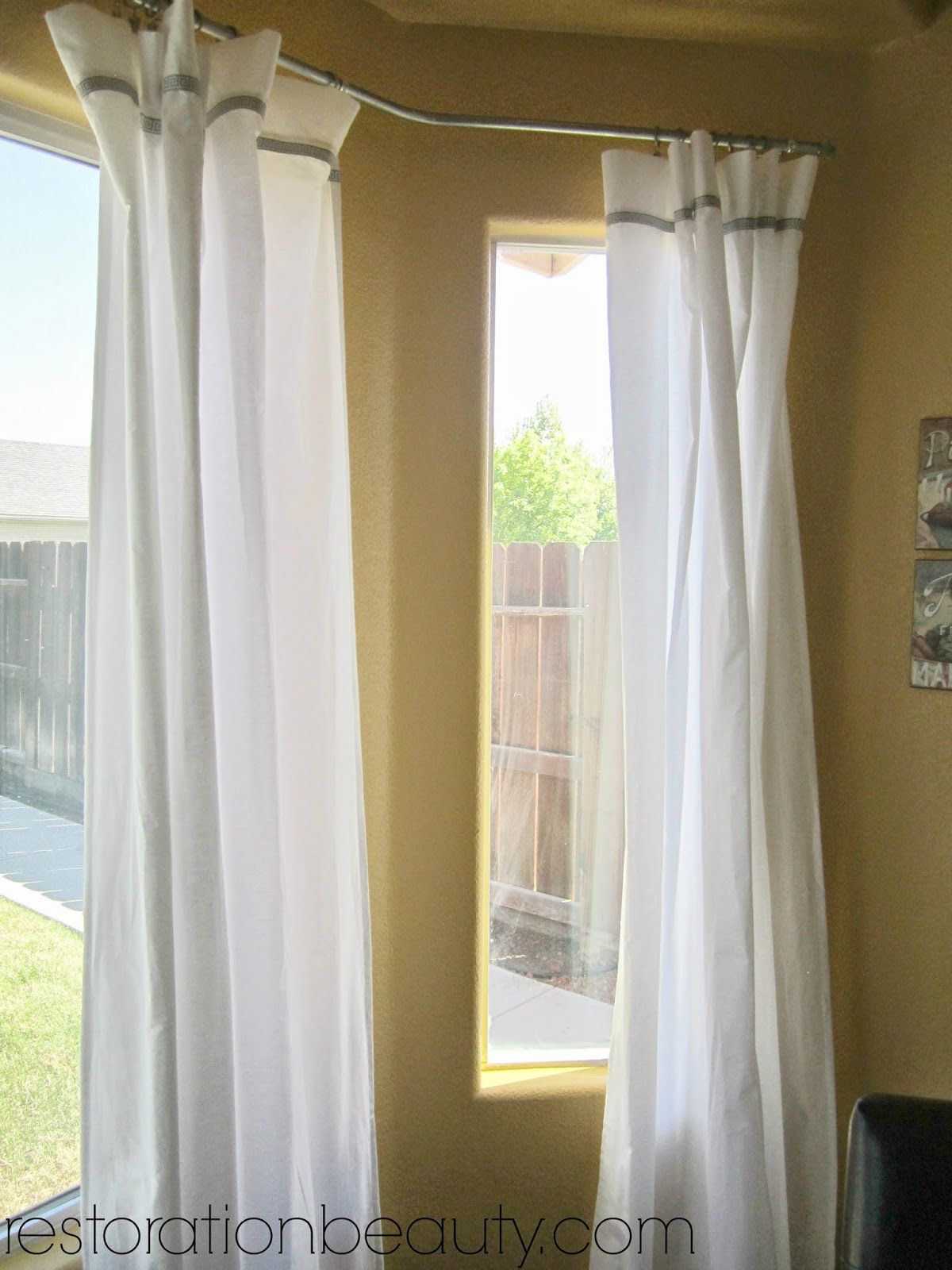 options square windows bay rods curtain for curtains rod window rail unbelievable flair