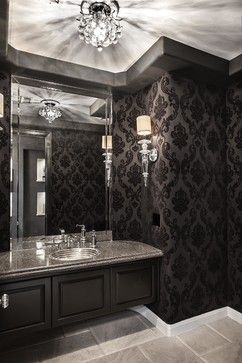 Sjc Dramatic Remodel Contemporary Powder Room Orange County Coast Interior Design