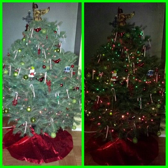 Mack Family Christmas Tree 2013 is finally completed Red  Green 2