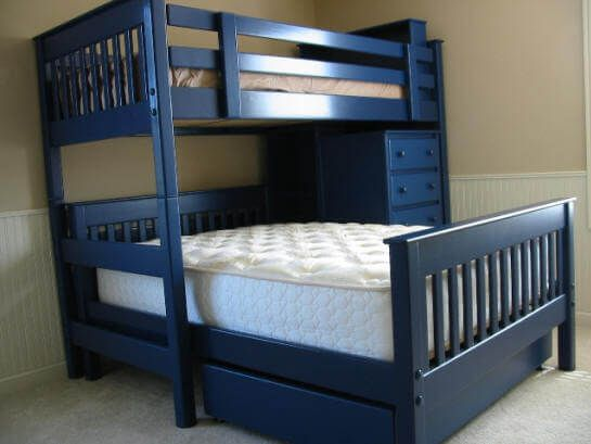 Photo Of Bunk Bed L30 With Custom Navy Blue Paint Drew Pinterest
