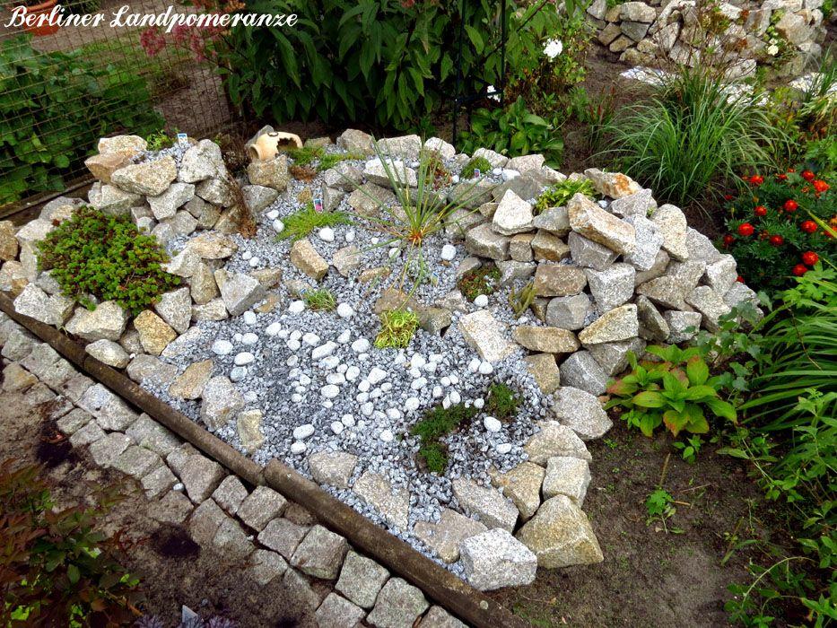 steingarten anlegen how to create a stone garden garden berliner landpomeranze pinterest. Black Bedroom Furniture Sets. Home Design Ideas
