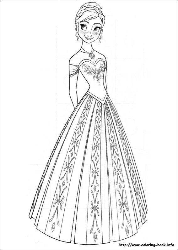 Elsa Anna Frozen Coloring Sheets