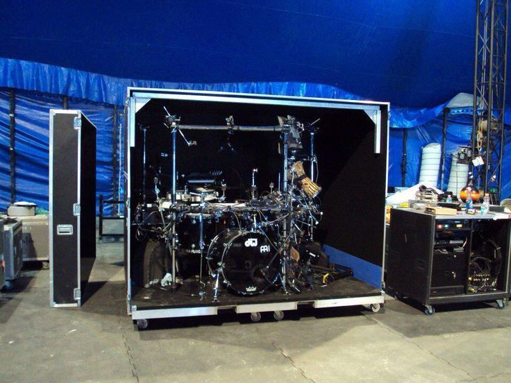 Full Drum Kit Minus The Cymbals Case Skinz Eating
