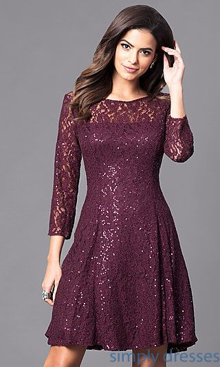 32a785b842a0 Semi-Formal Lace 3 4 Bracelet Sleeve Dress in 2019