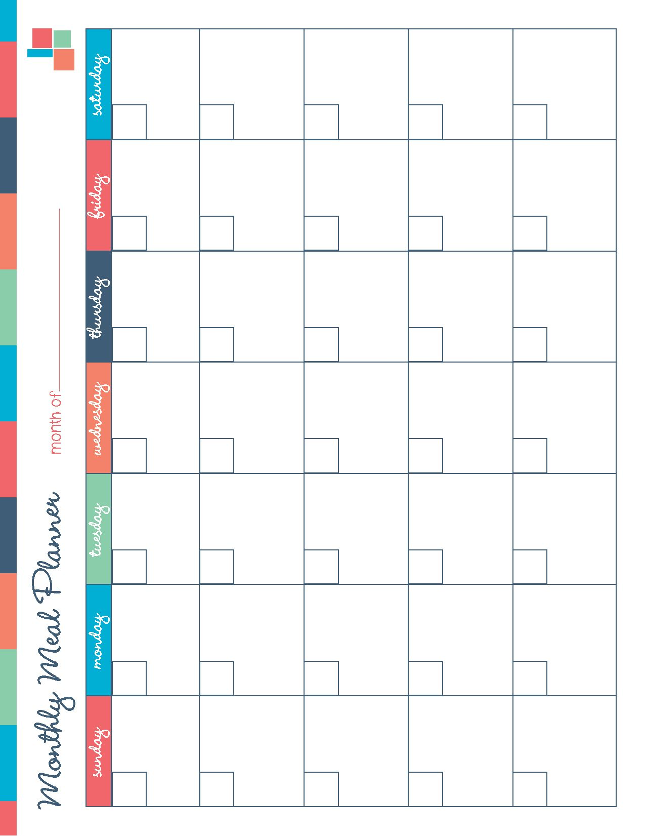 Free printable meal planner kitchen set free printable for Cabinet planner free