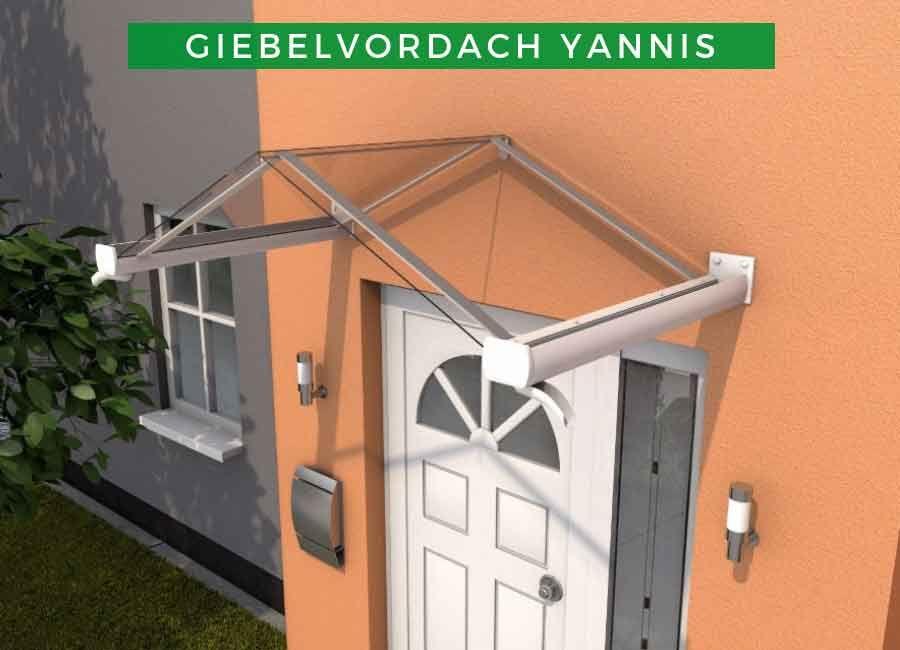Terrando Giebelvordach Yannis Vordach hauseingang
