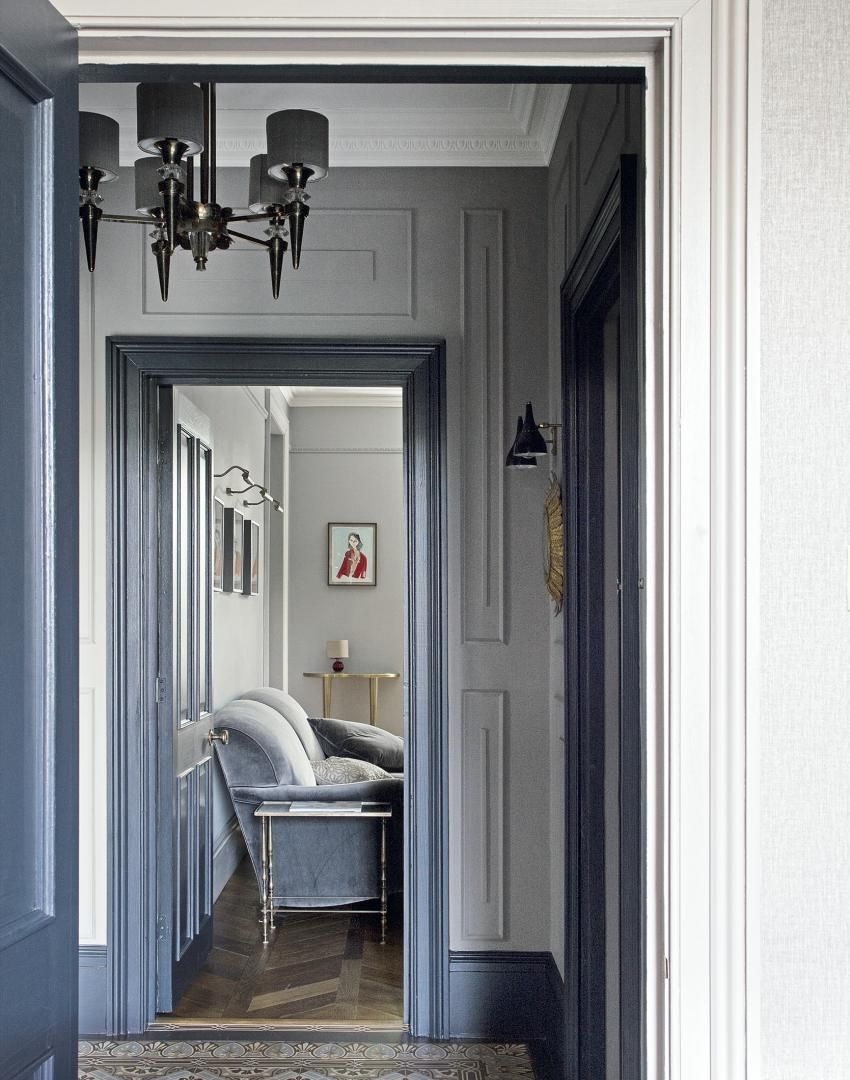 Grey traditional hallway with period floor tiles grey traditional hallway with period floor tiles dailygadgetfo Images