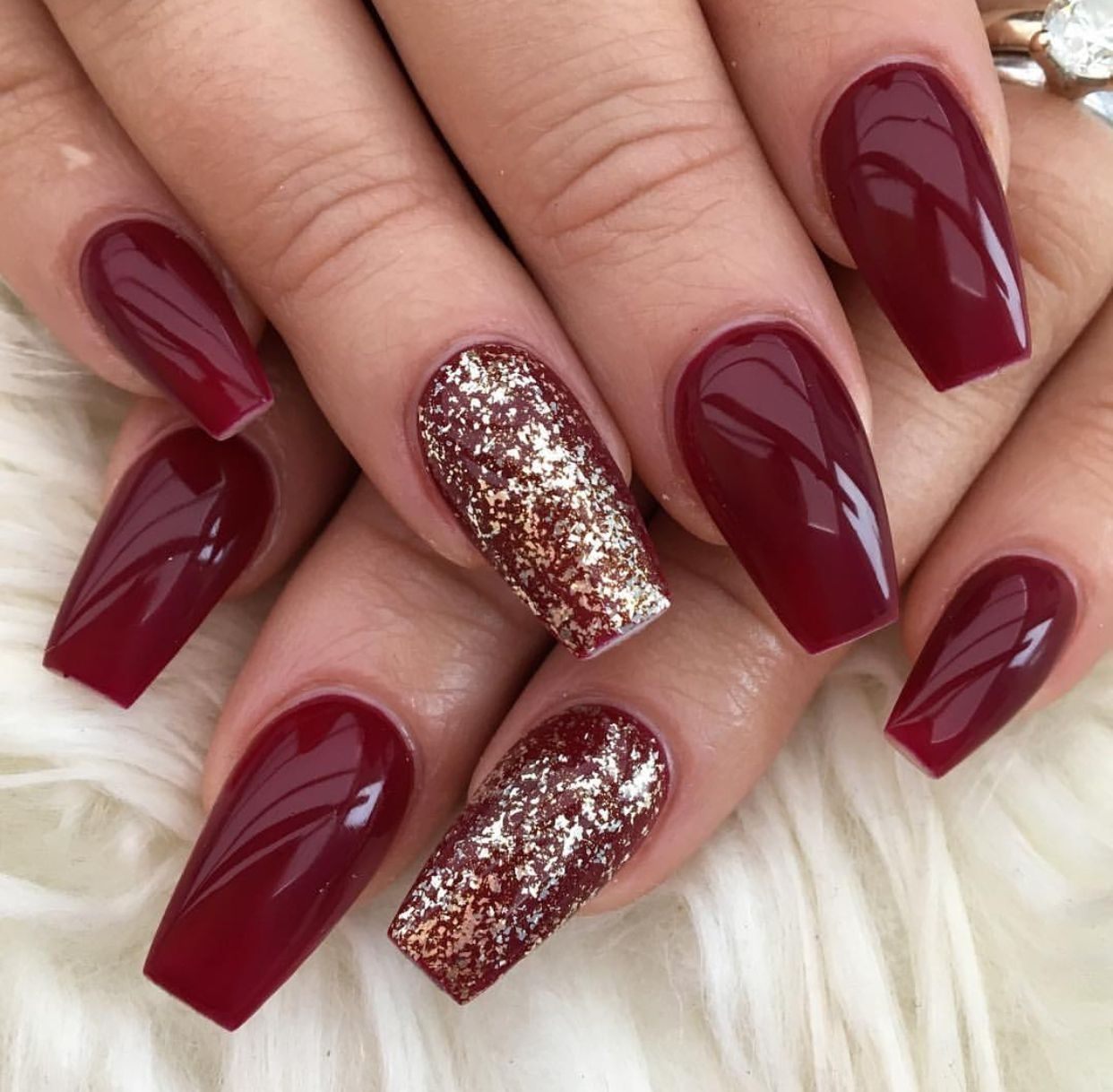 Pin By Shyamm Curry On Nails Wine Nails Christmas Nails Acrylic Red Acrylic Nails