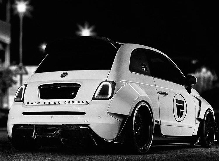 An Absolutely Stunning Fiat 500 With A Wide Body To Make It Look