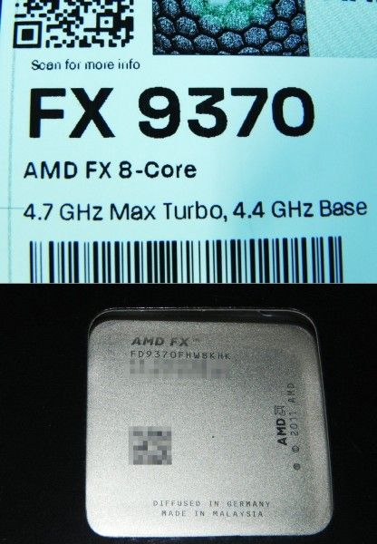 AMD FX-9370 possibly to go to retail