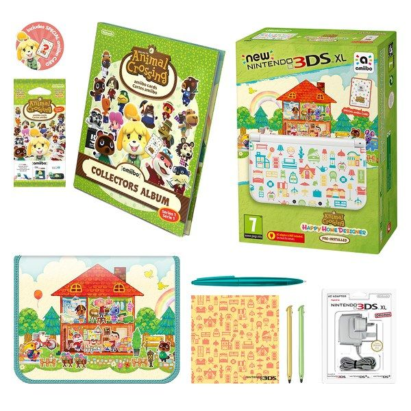 new nintendo 3ds xl animal crossing happy home designer edition pack image 01 console game. Black Bedroom Furniture Sets. Home Design Ideas