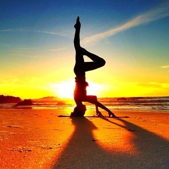 Cool Capture: Sunrise Yoga Super saturated colors and great pose Capture: Sunrise Yoga Super saturated colors and great poseSuper saturated colors and great pose