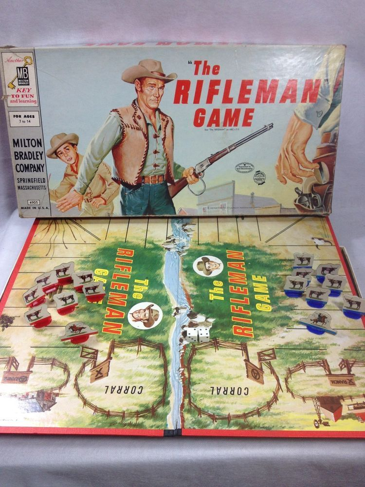 The Rifleman board game 1959 Milton Bradley TV Western Complete ...