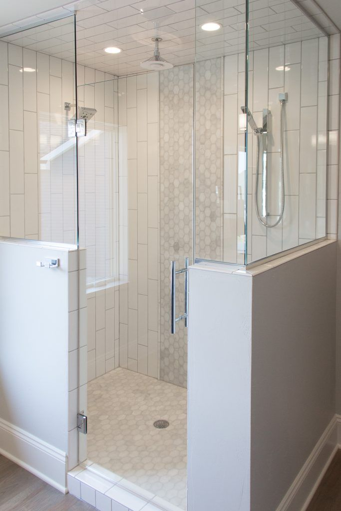 Shower Tile 4x16 White Subway Tiles Accent And Floor