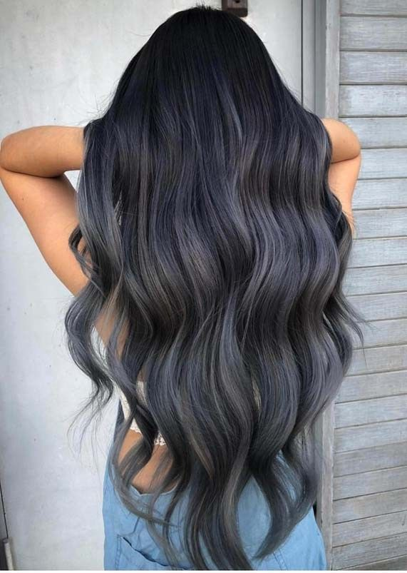 Stunning Hair Color Ideas For Long Hair Styles In 2018 Stylesmod Grey Ombre Hair Hair Styles Dark Ombre Hair
