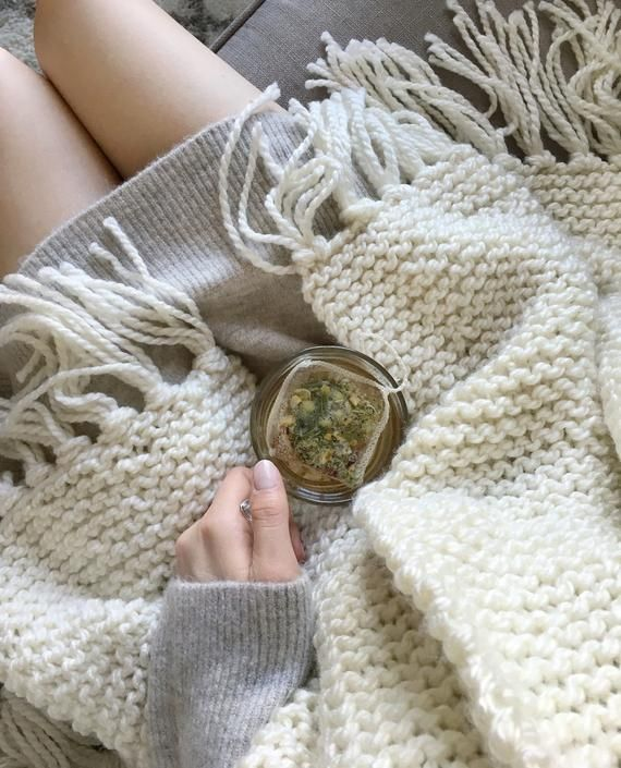 KNITTING PATTERN ⨯ Blanket Scarf Shawl Knit Pattern ...