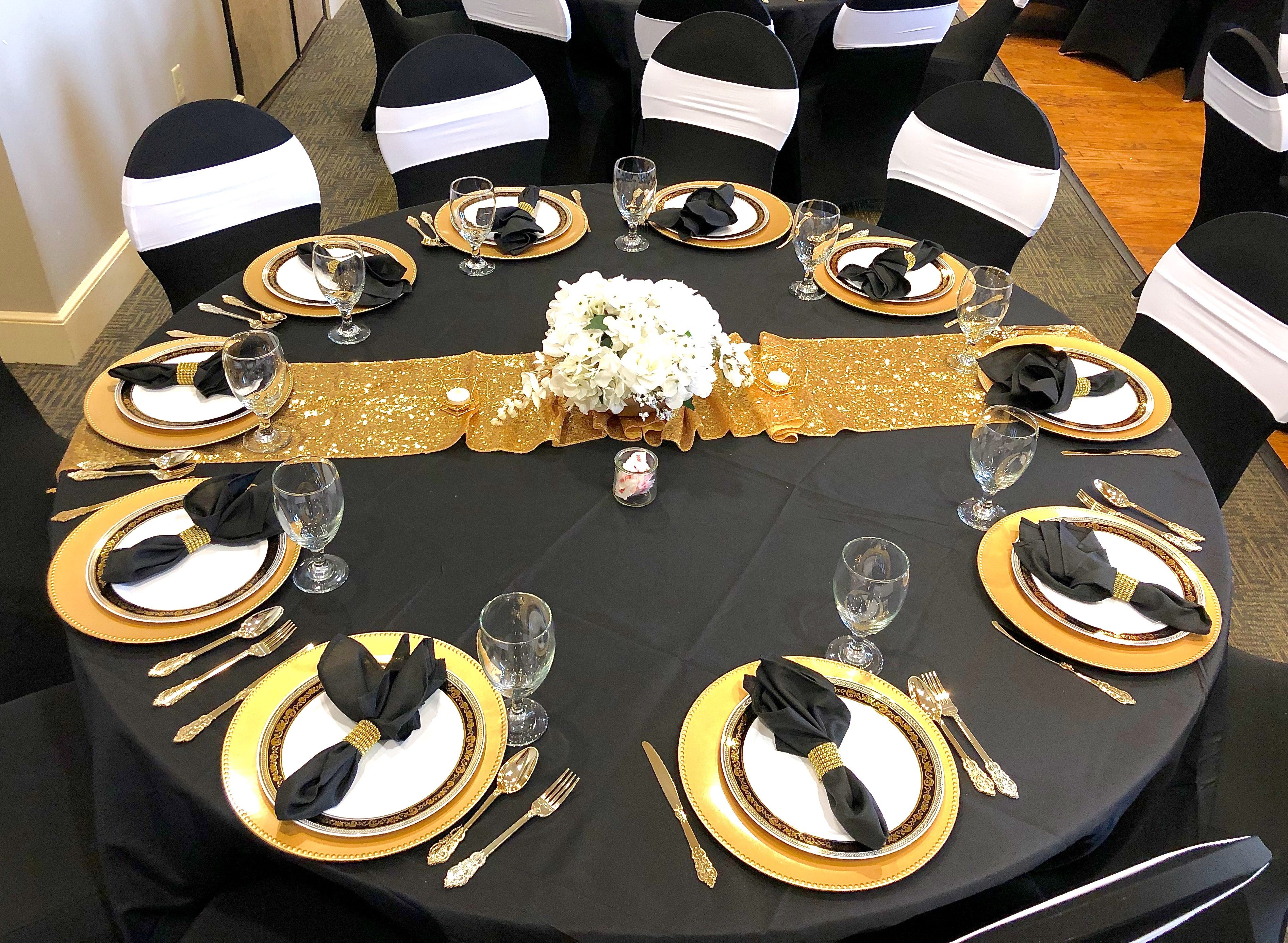 Black White And Gold Party Black And Gold Party Decorations