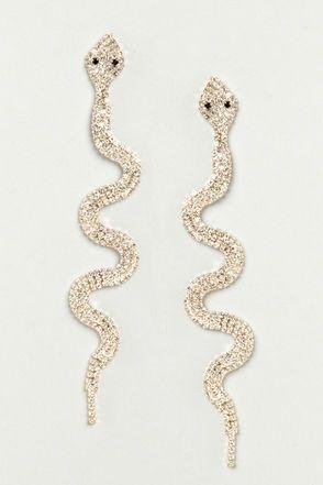 185887fe0 Medusa's Minions Rhinestone Snake Earrings in 2019   A Jolly Holiday ...