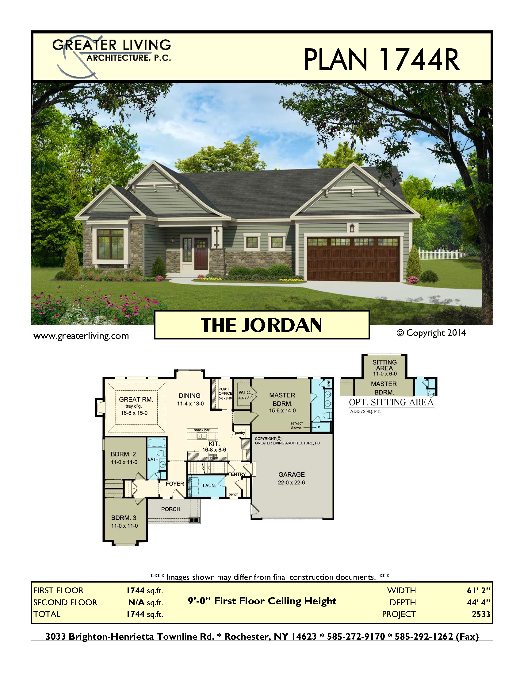 Plan 1744R: THE JORDAN - House Plans Ranch House Plan - Greater ...