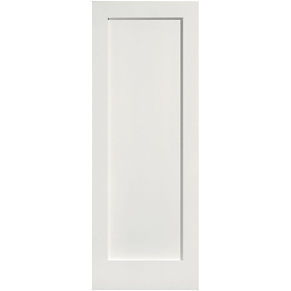 Masonite crown mdf smooth 1 panel solid core primed for Solid core mdf interior doors