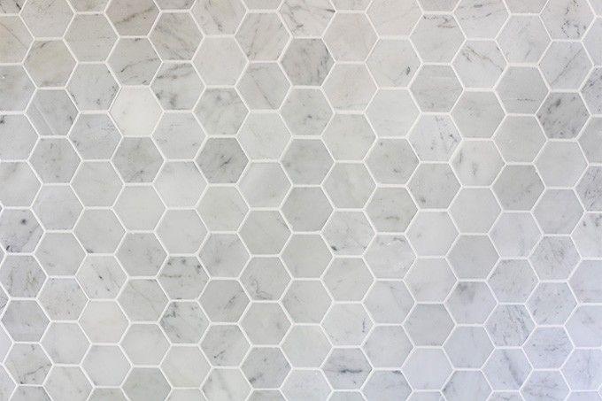 How to Install a Marble Hexagon Tile Backsplash   JustAGirlAndHerBlog.com