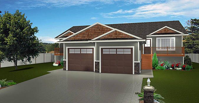 Plan 2012638 Two Bedroom Bi Level Duplex By Edesignsplans Ca This Design Will Fit Well In Any Residential Neighborhood Tw Duplex Plans Duplex Floor Plans