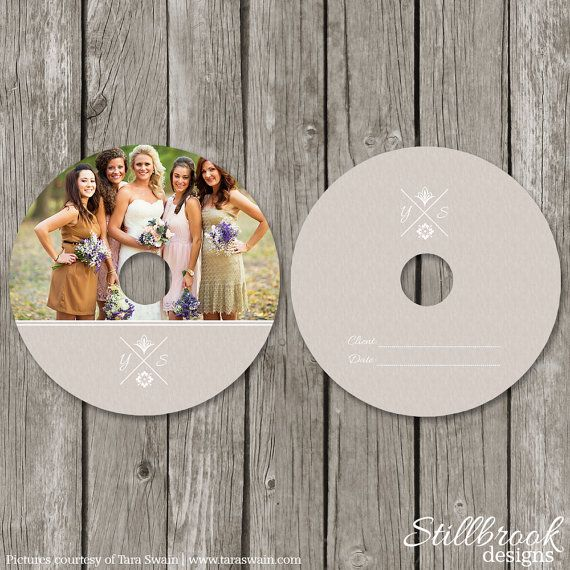 Cd Label Template  Wedding Photography Dvd Labels  Kraft Photo