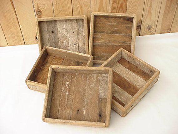Small Tray Made From Reclaimed Lath Wood 6 X 6 3 4 X 1 75 In