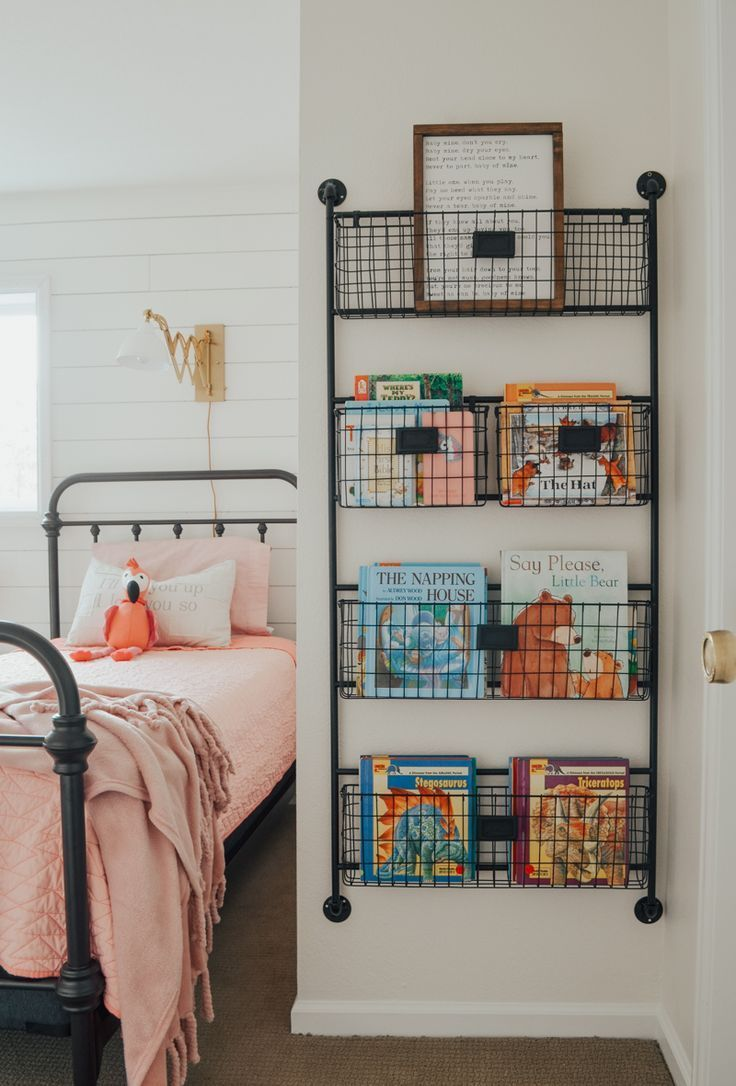 Cottage Style Kids Bedroom Reveal Kid S Bedroom Ideas With Shiplap Wall And Farmhouse Style Decor Kids Bedroom Kids Book Storage Bedroom Storage