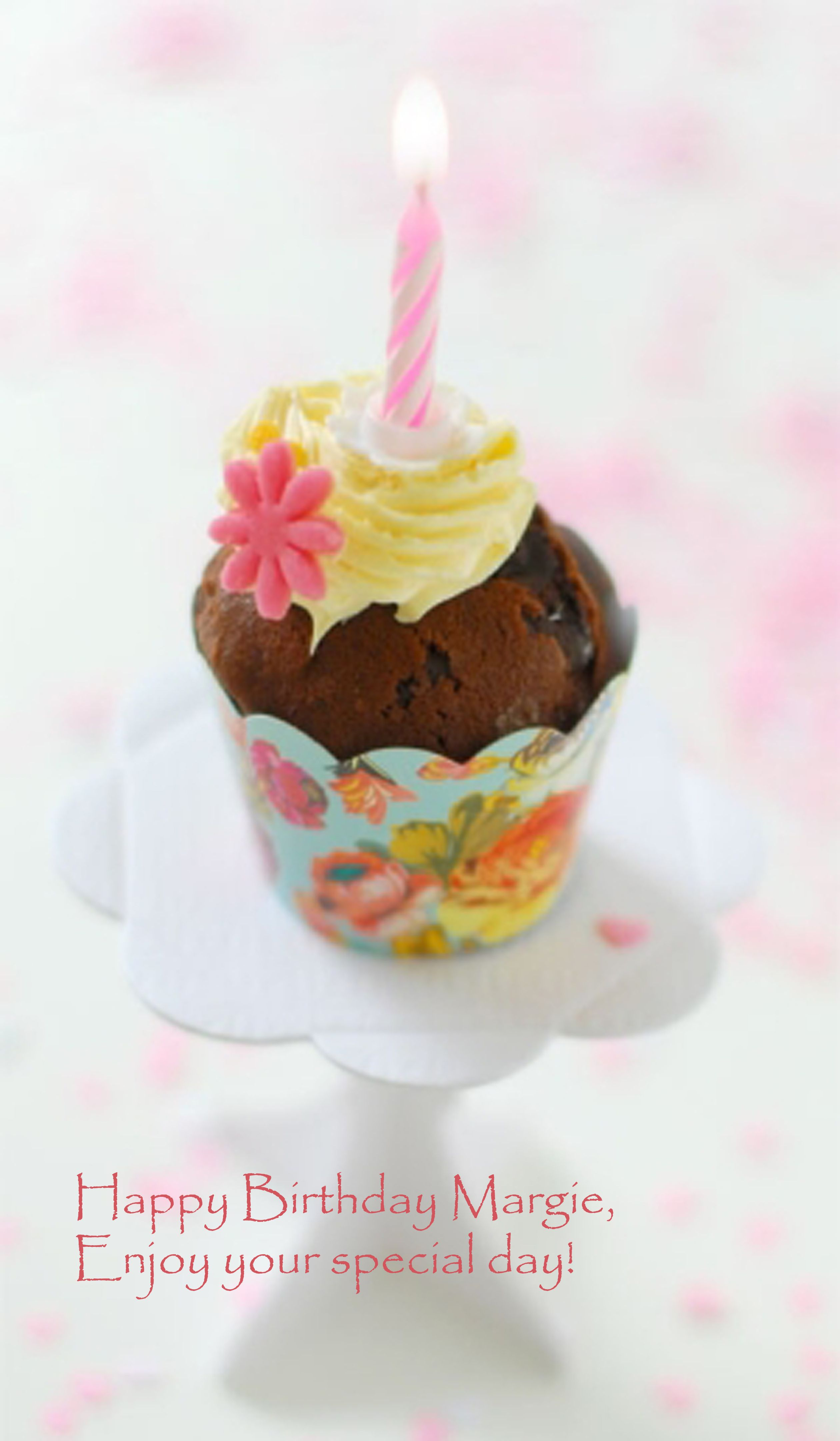 Happy Birthday Margie Tartas Cupcakes Feliz Cumpleanos