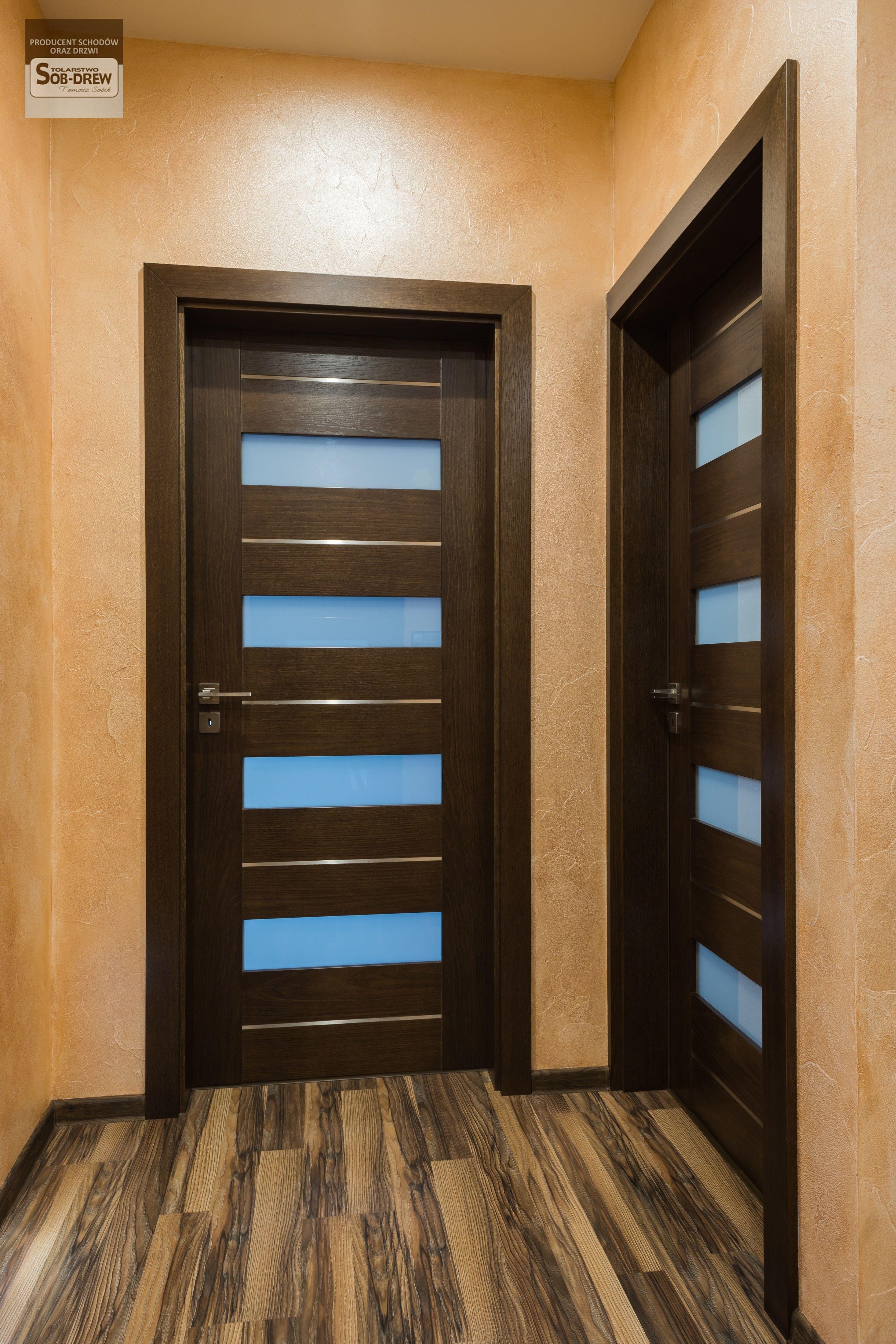 Bezprzylgowe Drzwi Wewnetrzne Z Intarsjami Szklo Mleczne Material Dab My Home Design Future House House
