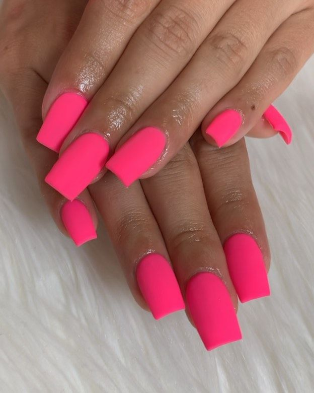 Amy On Instagram This Matte Pink Is Ridiculous Denvernailtech Colorado Coloradonailtech Coloradonails Denvernails 5 Matte Pink Nails Nail Tech