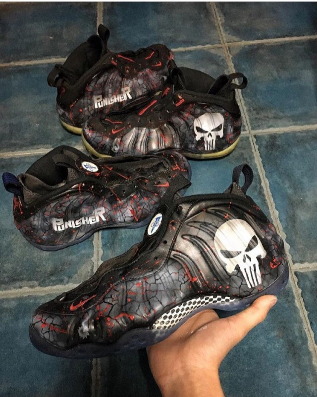 a5679628bb0 Punisher Foamposites by  us 8custom - - Who would cop if released  - -  Follow