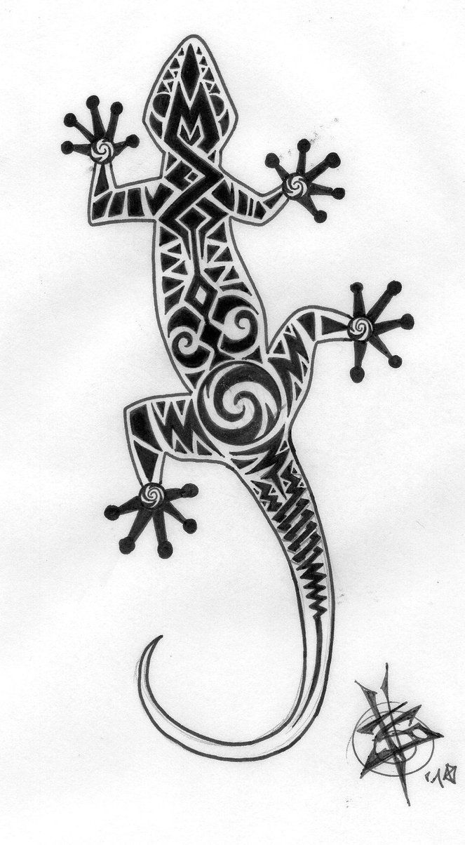 tribal gecko by travthemad. Black Bedroom Furniture Sets. Home Design Ideas
