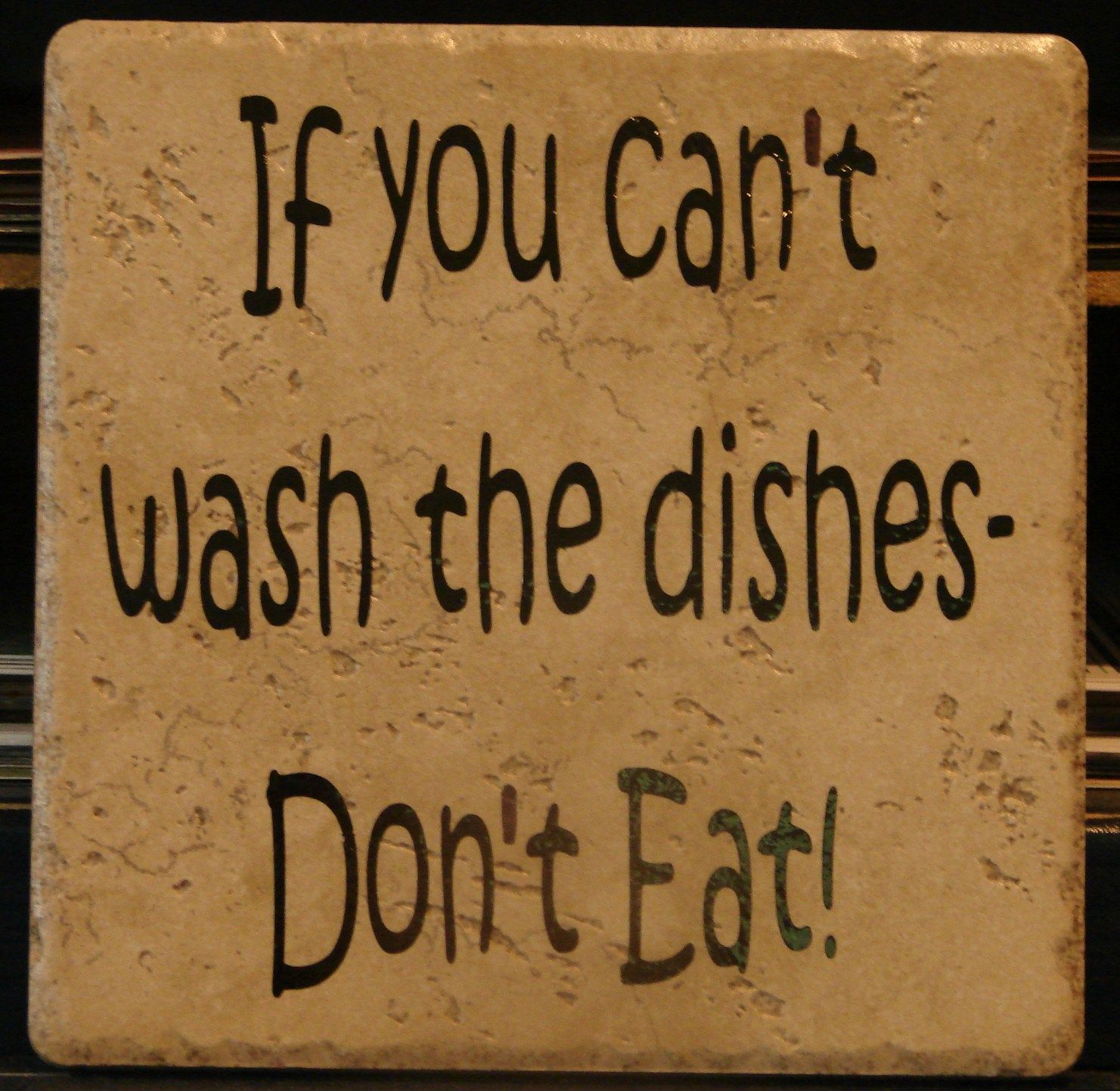 every kitchen needs this one! If you can't wash the dishes ...