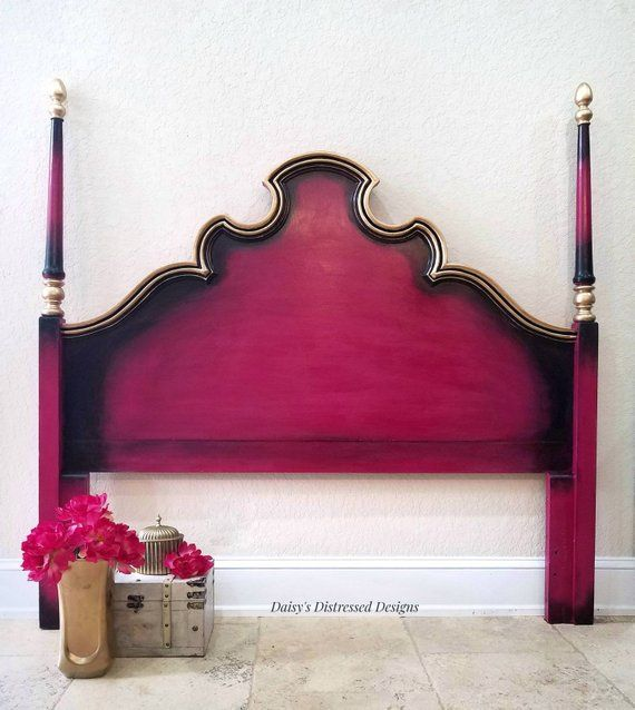 , Full size Headboard Vintage Hot Pink and Gold Made to Order, My Travels Blog 2020, My Travels Blog 2020