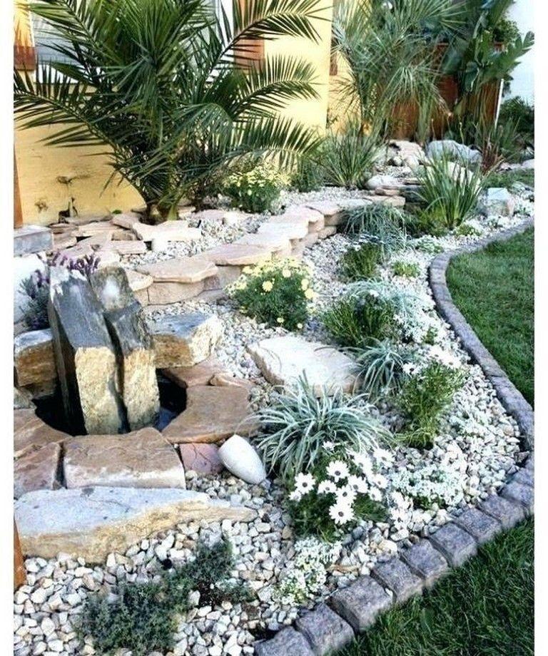 25+ Gorgeous Front Yard Rock Garden Landscaping Ideas #gardening  #gardendesign #gardenideas