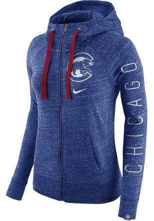 6551eb3fa Nike Chicago Cubs Womens Blue Vintage Full Zip Jacket | MLB ...