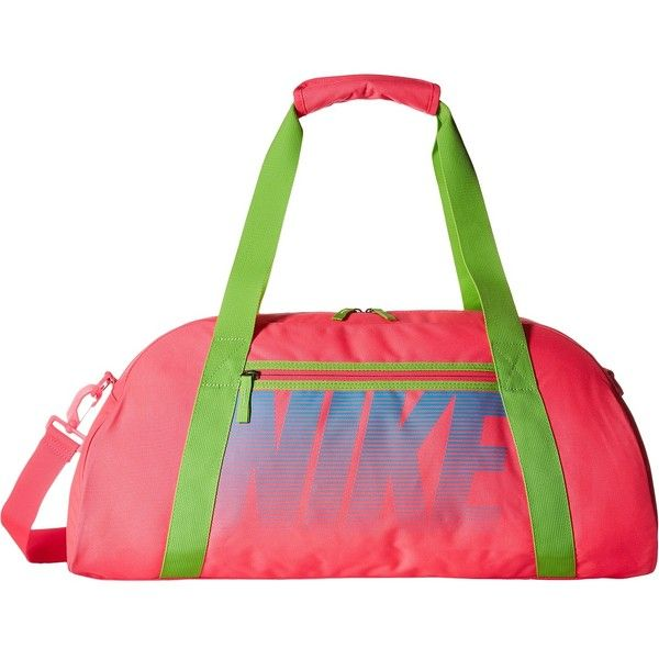 56a2b2bc6e57 Nike Gym Club (Hyper Pink Action Green Omega Blue) Duffel Bags ( 35) ❤  liked on Polyvore featuring bags and luggage