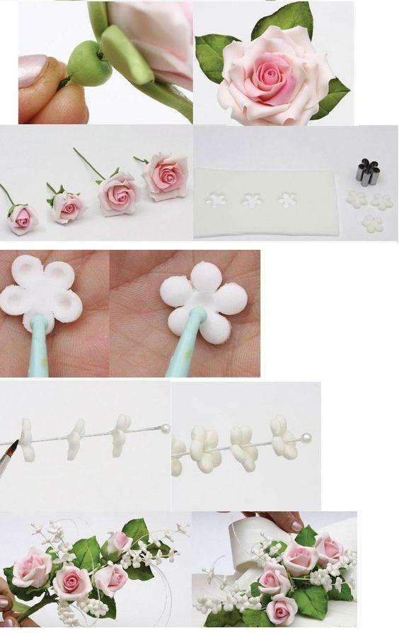 Pin By Danuta Gierszewska On Flores Fondant Flower Tutorial Sugar Flowers Tutorial Poppy Cake