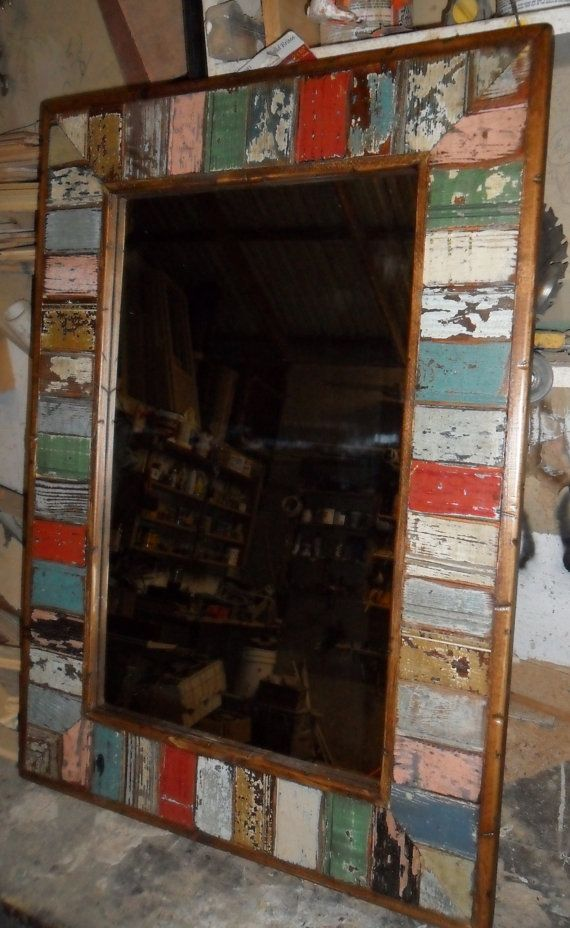 mosaic mirror rustic salvage bead board by usawoodworks, $175.00 ...