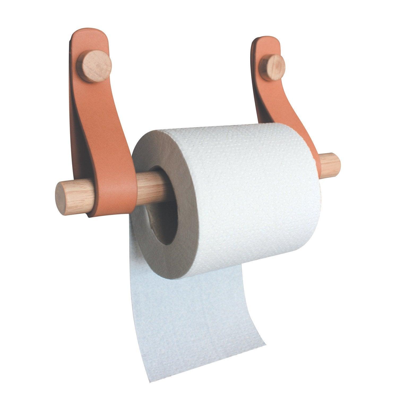 Derouleur A Papier Wc Bois Effet Cuir Et Bois Capsule En 2020 Derouleur Papier Toilette Rangement Papier Toilette Porte Papier Toilette
