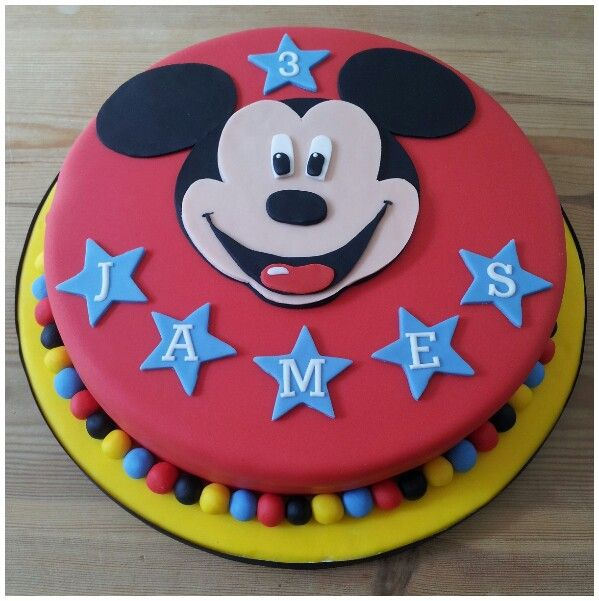 Mickey Mouse Birthday Cakeidea For Tobys 1st Birthday Smash Cake